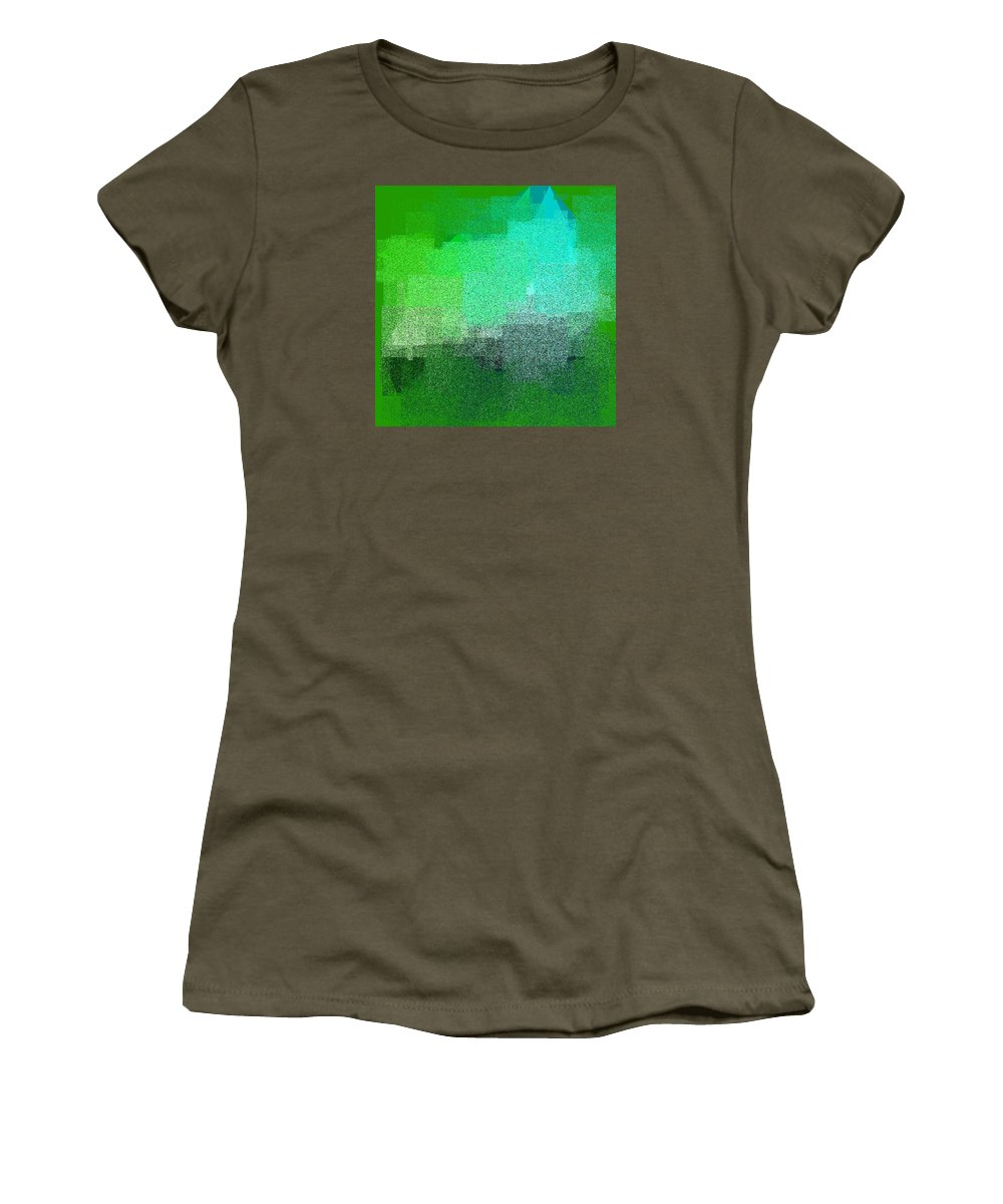 Abstract Women's T-Shirt featuring the digital art 5120.5.18 by Gareth Lewis