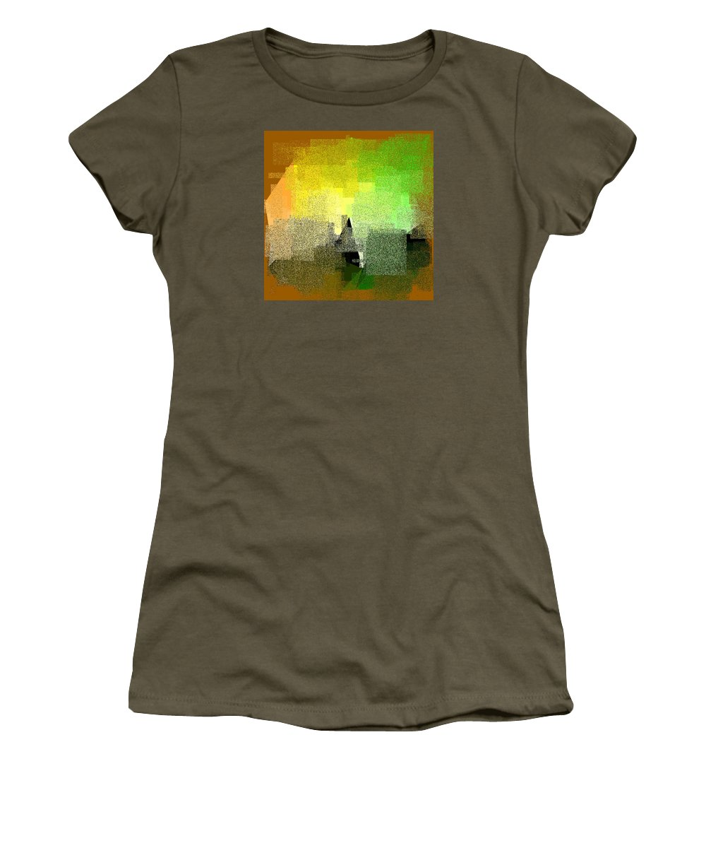 Abstract Women's T-Shirt featuring the digital art 5120.5.55 by Gareth Lewis