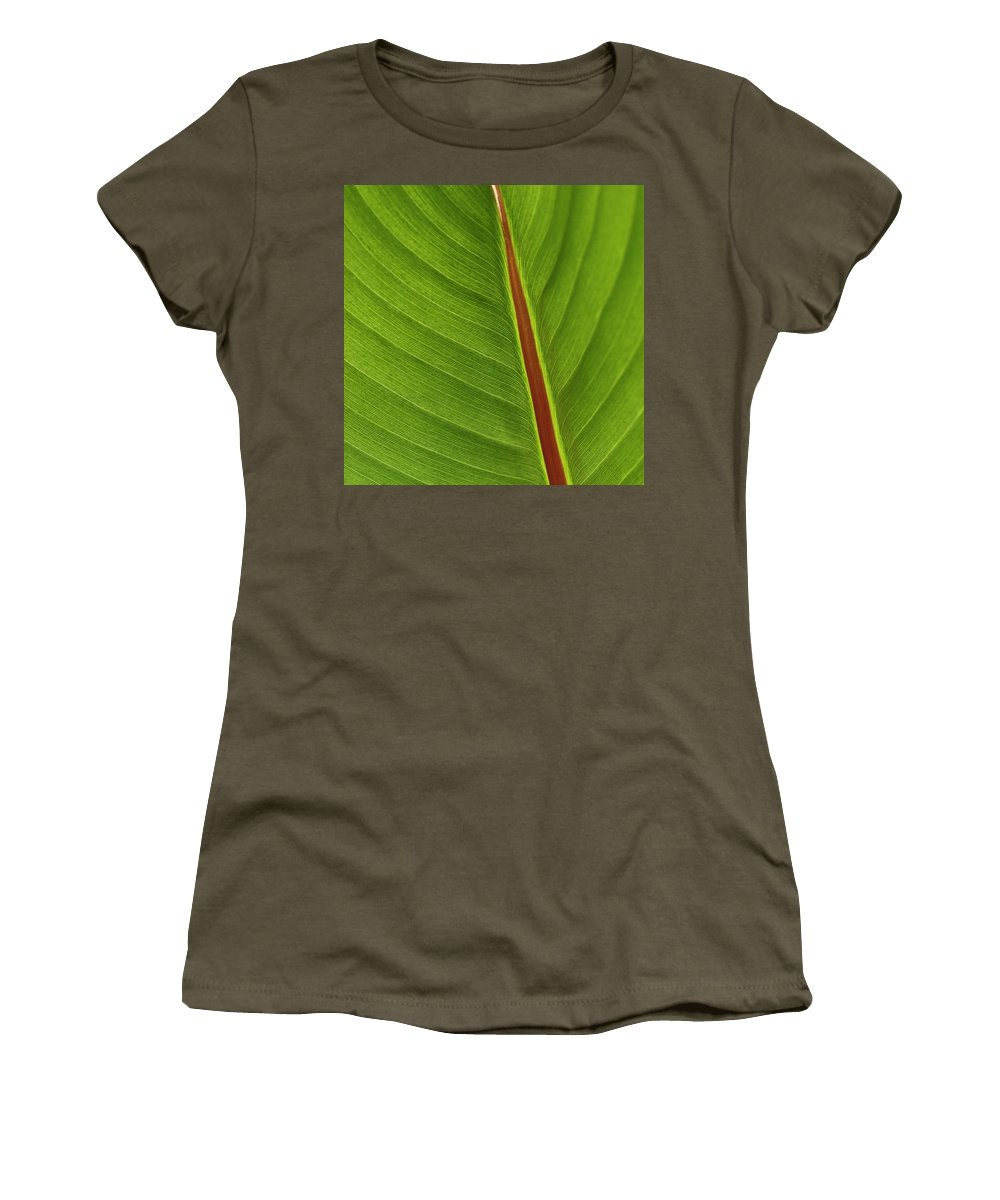 Leaf Women's T-Shirt featuring the photograph Banana Leaf by Heiko Koehrer-Wagner