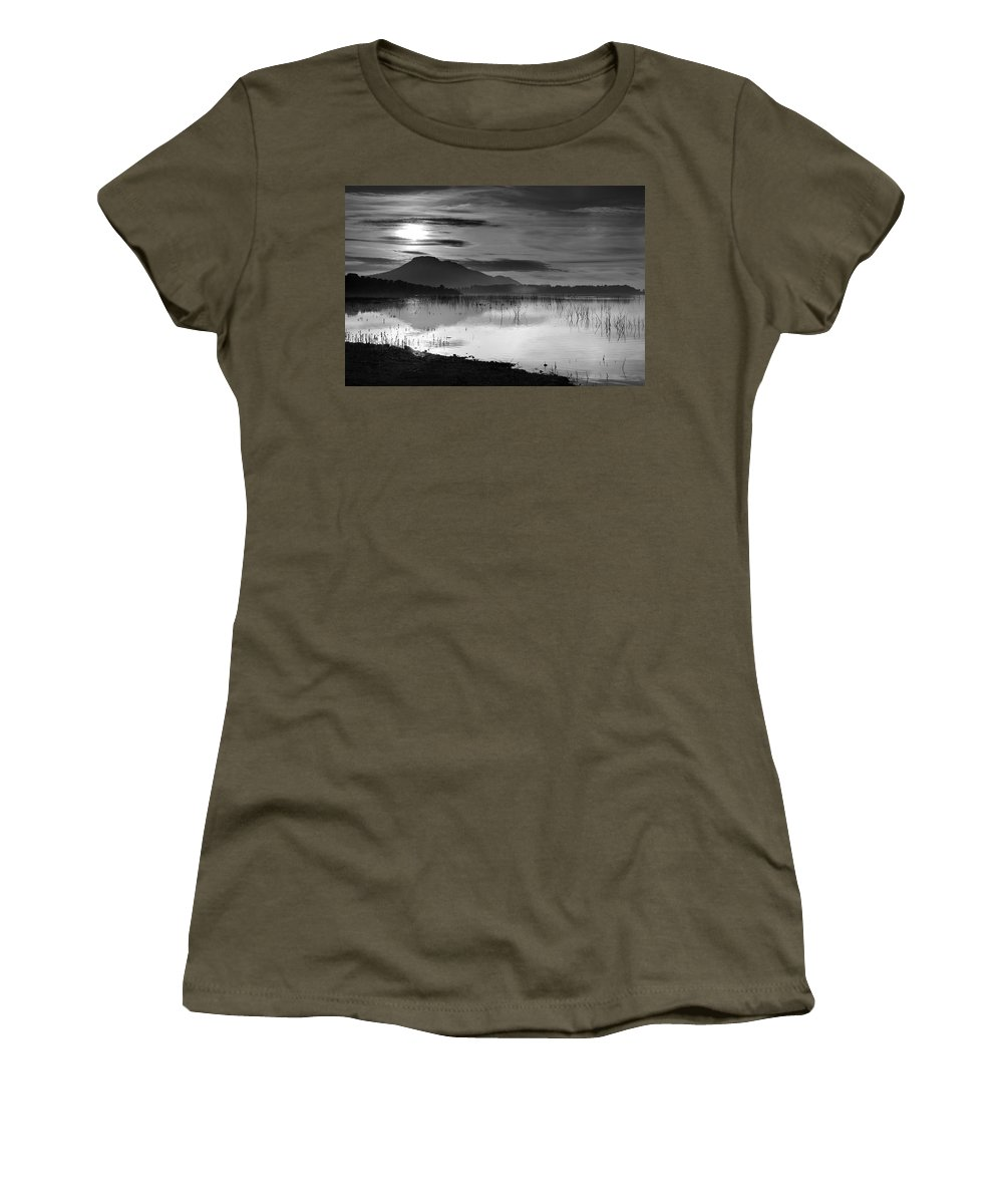 Lake Women's T-Shirt featuring the photograph Calm Sunset by Guido Montanes Castillo