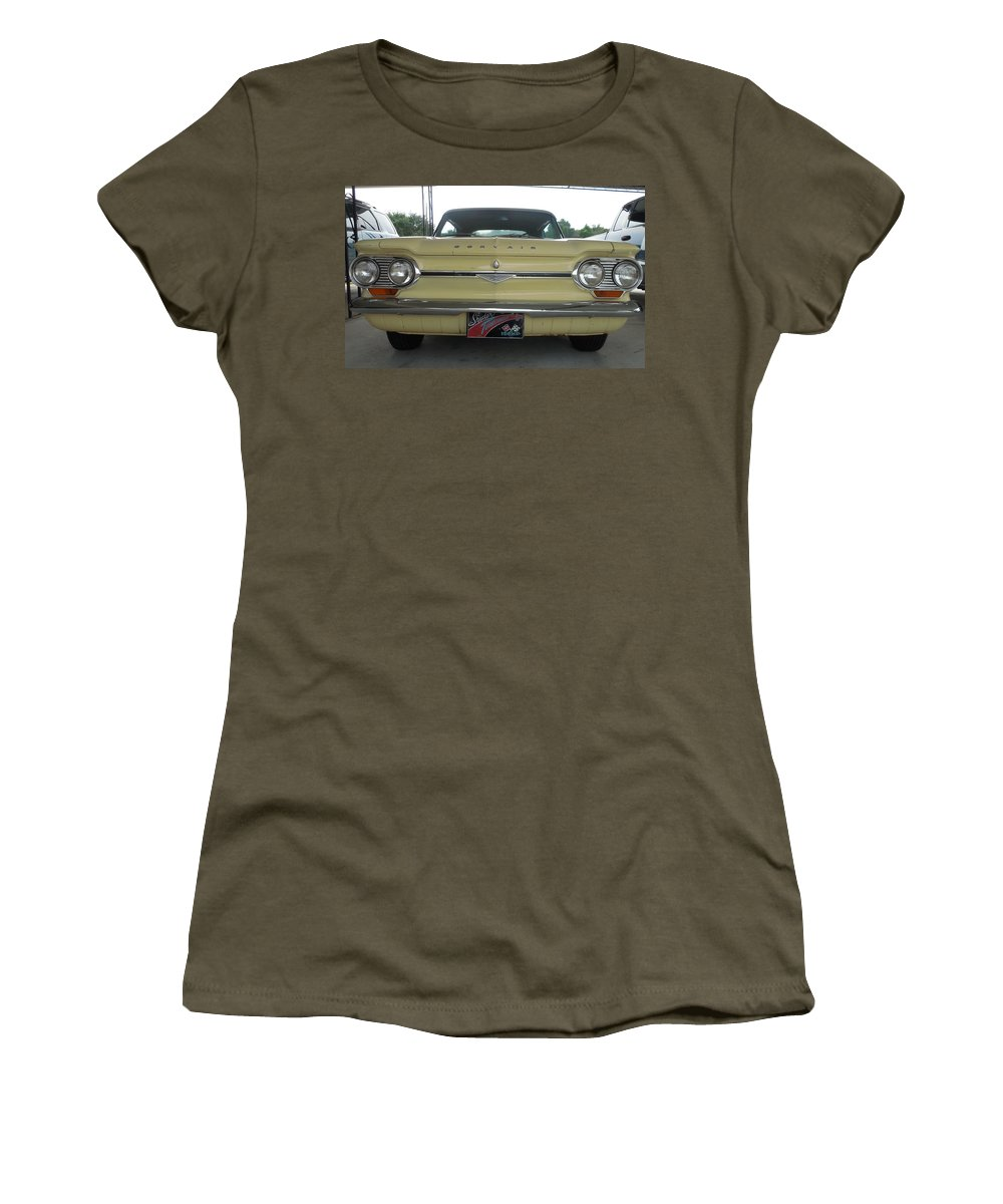 Chevrolet Women's T-Shirt featuring the photograph 64 Corvair Spyder by Mike Niday