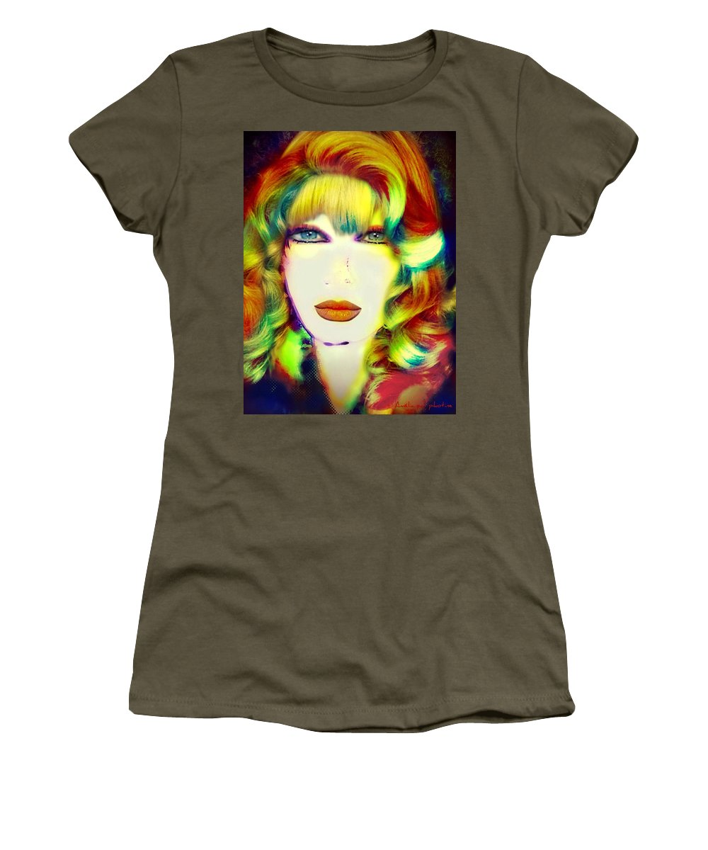 Amelia Women's T-Shirt featuring the painting Amelia by Pikotine Art