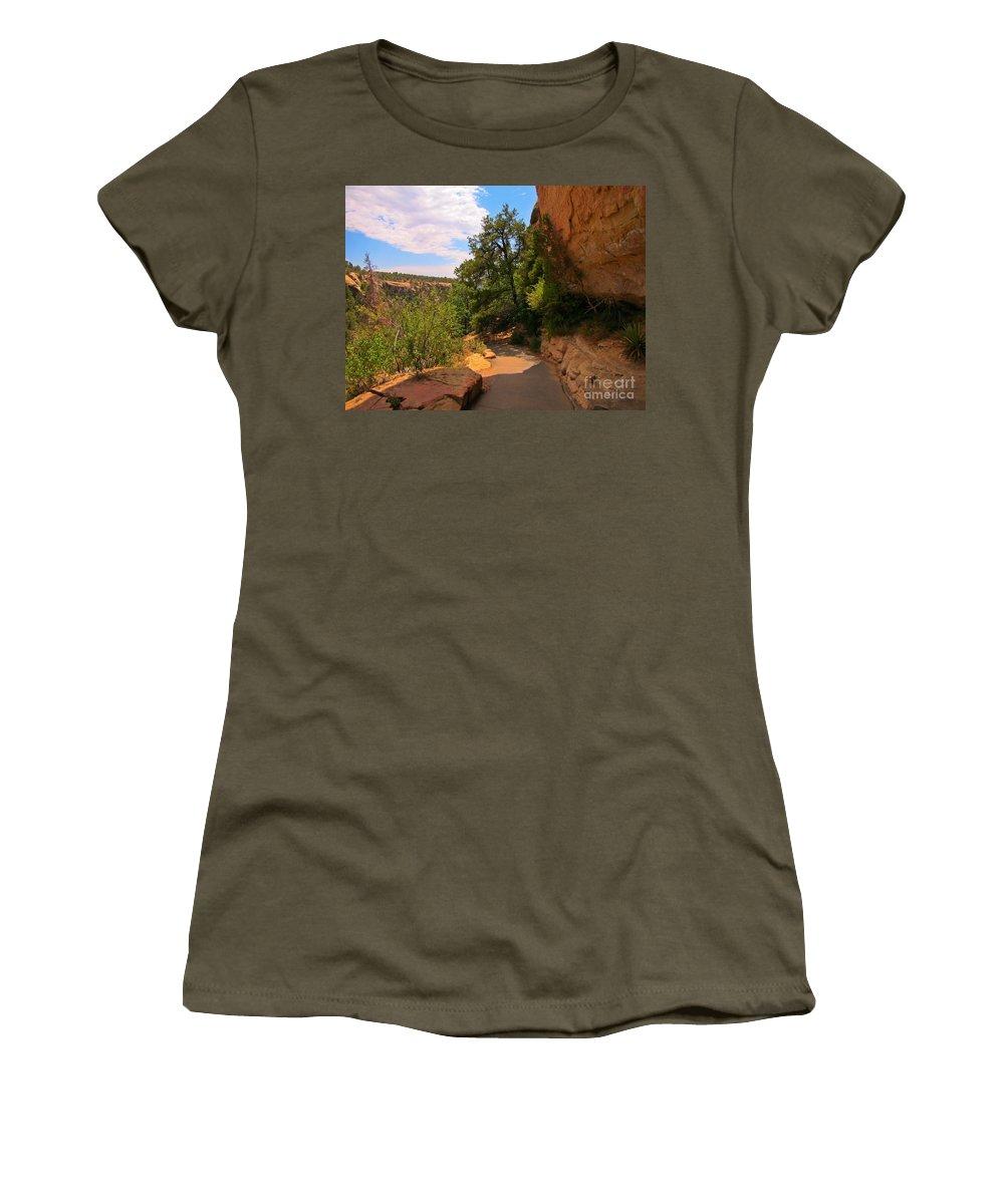 A Beautiful Walk Women's T-Shirt featuring the photograph A Beautiful Walk by John Malone
