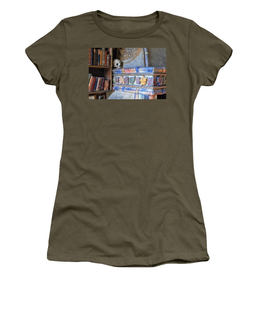 Skull Women's T-Shirt featuring the photograph A Conversation Piece by Dave Mills