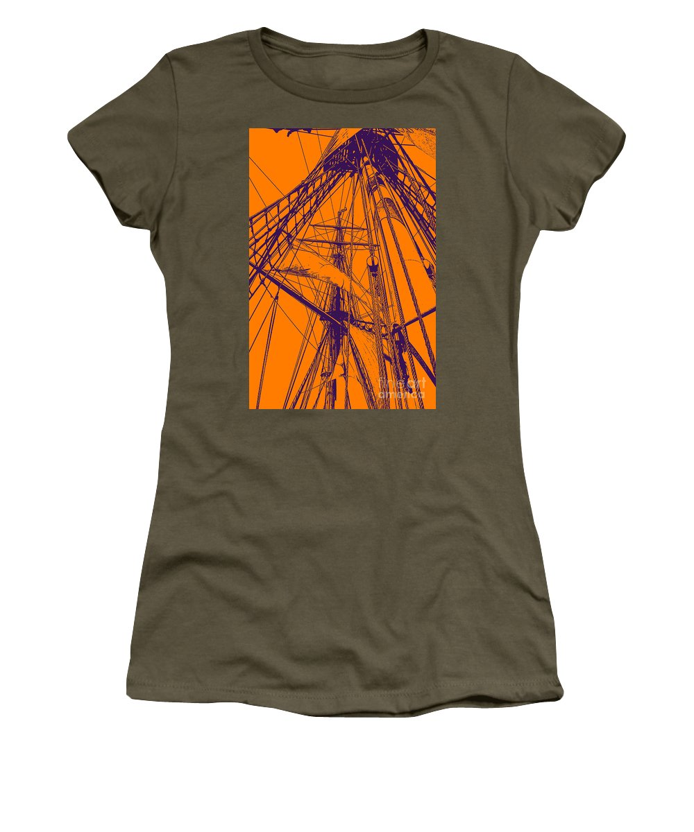 Mast Women's T-Shirt featuring the photograph A Different View by Joe Geraci
