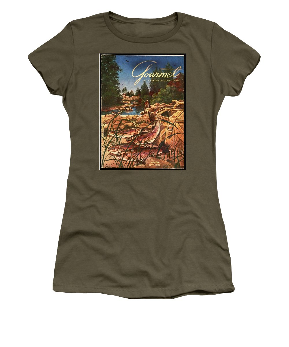 Food Women's T-Shirt featuring the photograph A Fishing Scene by Henry Stahlhut