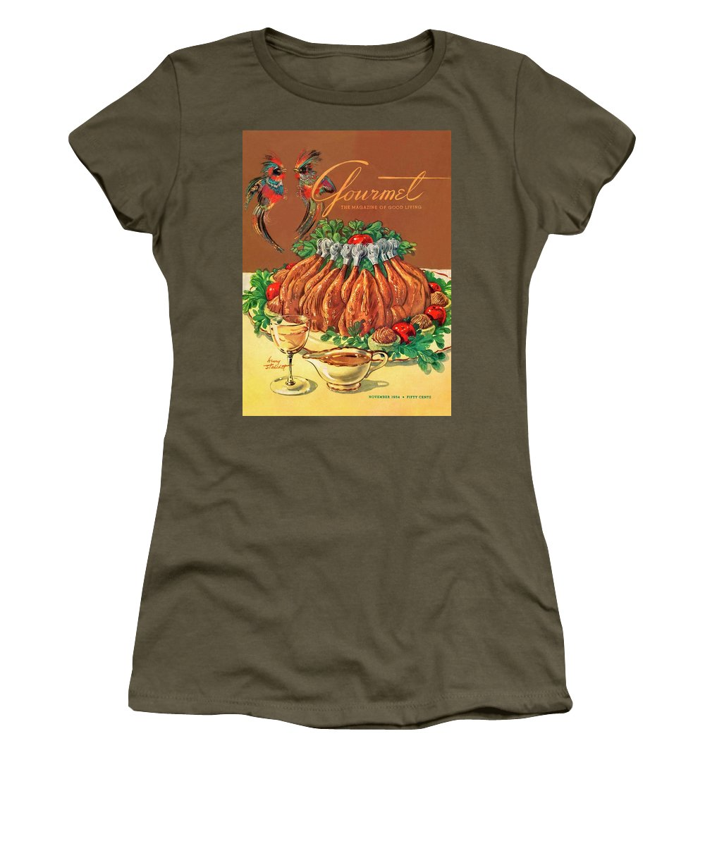 Food Women's T-Shirt featuring the photograph A Gourmet Cover Of Chicken by Henry Stahlhut
