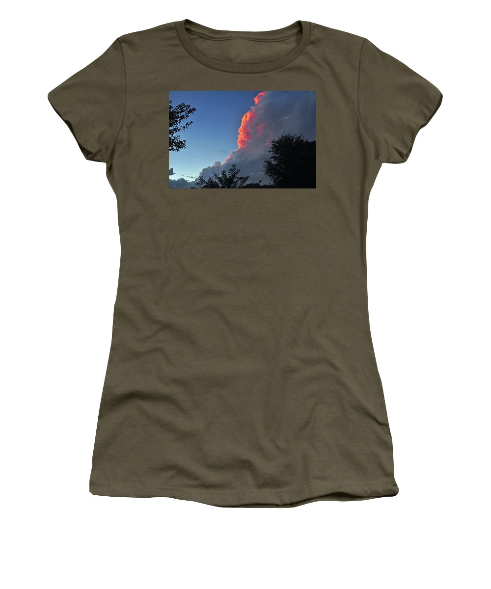 Cloud Women's T-Shirt featuring the photograph A Hint Of Pink by Deborah Good