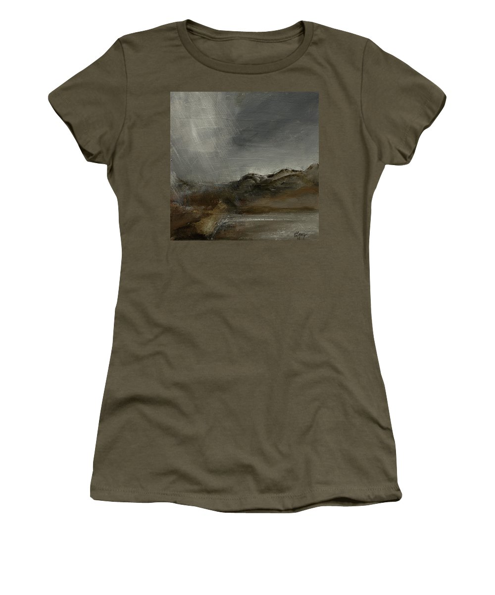 Abstract Landscape Women's T-Shirt featuring the painting A Painting A Day 7 Abstract Landscape Painting Original Signed Painting by Gray Artus