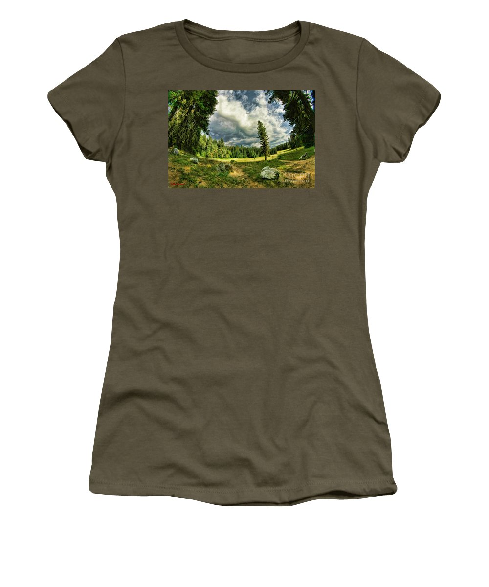 Women's T-Shirt featuring the photograph A Peacful Yosemite Day by Blake Richards