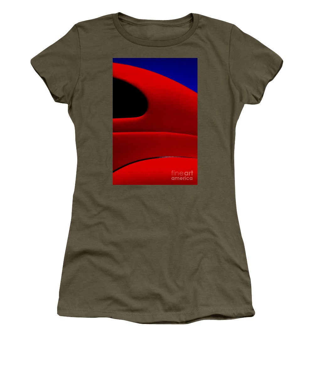 Red Women's T-Shirt featuring the photograph Red Hot - Hot Rod by Paul W Faust - Impressions of Light
