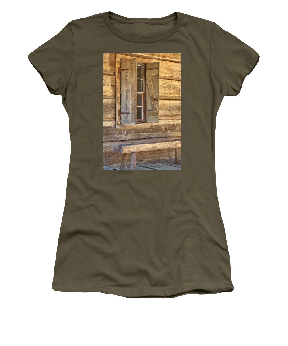 8195 Women's T-Shirt featuring the photograph A Seat By The Window by Gordon Elwell