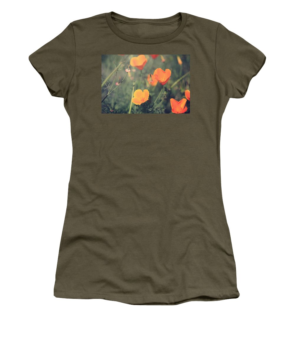 Mt. Diablo State Park Women's T-Shirt featuring the photograph A Springtime Breeze by Laurie Search