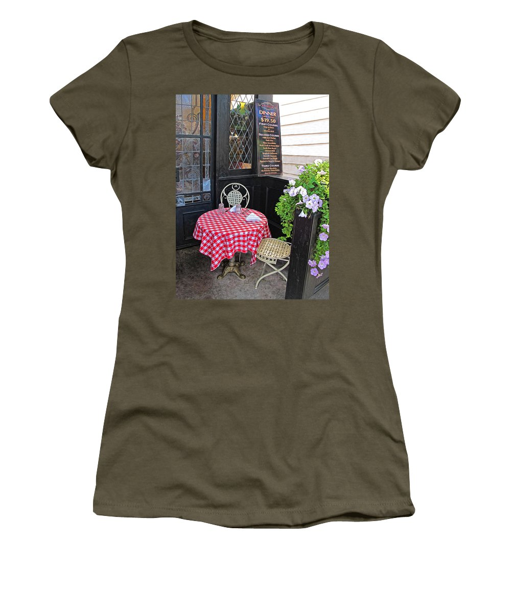 Table Women's T-Shirt featuring the photograph A Table For Two by Dave Mills