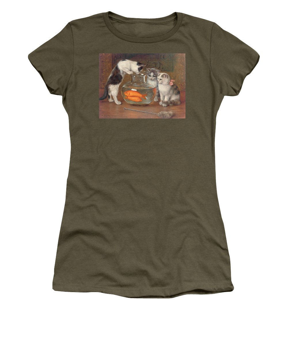 Tempting Women's T-Shirt featuring the painting A Tempting Treat by Wilhelm Schwar