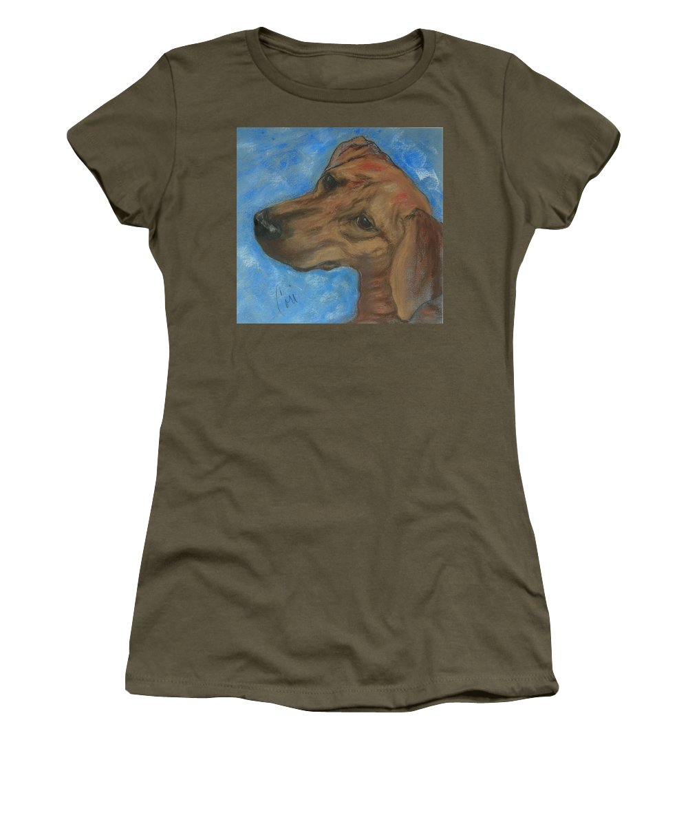 Pastel Women's T-Shirt (Athletic Fit) featuring the drawing A Twist Of Might by Cori Solomon