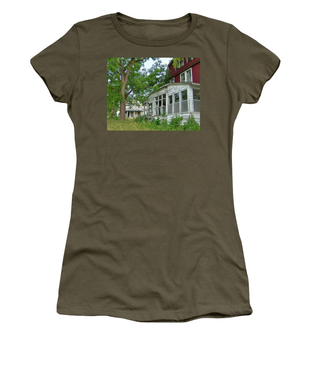 Academy Women's T-Shirt (Athletic Fit) featuring the photograph Abandoned Academy by Susan Wyman