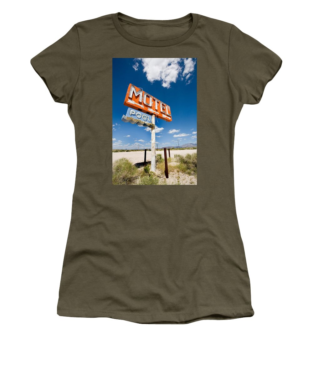 Arizona Women's T-Shirt featuring the photograph Abandoned Motel by Peter Tellone