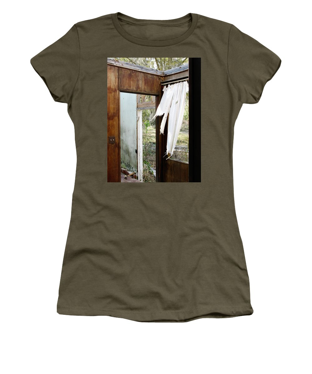 Abandoned House Women's T-Shirt featuring the photograph Abandoned by Randi Kuhne