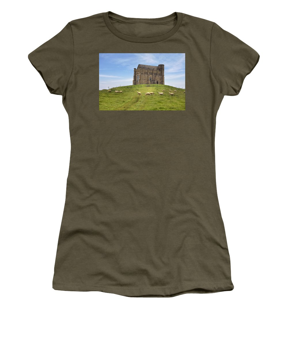 St. Chatherine's Chapel Women's T-Shirt featuring the photograph Abbotsbury by Joana Kruse