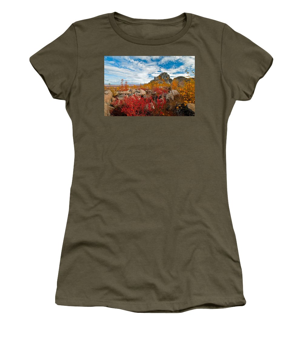 Fall Women's T-Shirt featuring the photograph Above The Arctic Circle by Clint Pickarsky