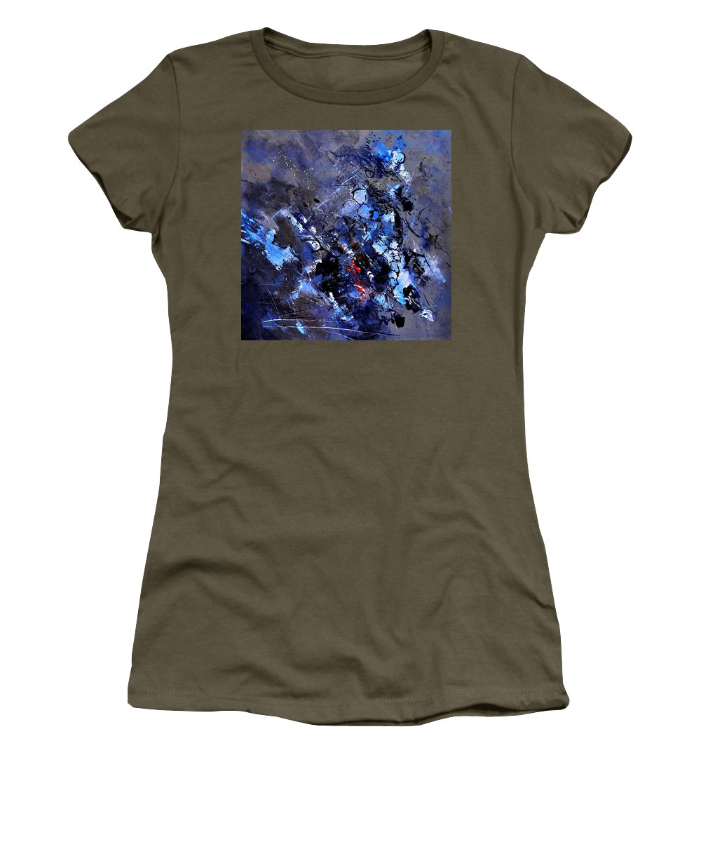 Abstract Women's T-Shirt featuring the painting Abstarct 882122022 by Pol Ledent