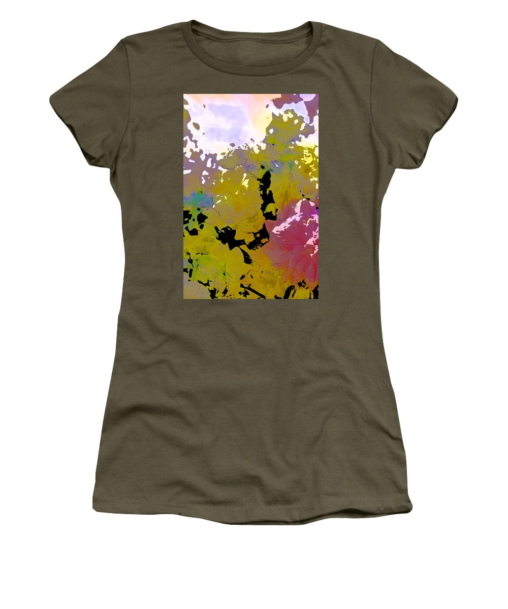 Abstract Women's T-Shirt (Athletic Fit) featuring the photograph Abstract 288 by Pamela Cooper
