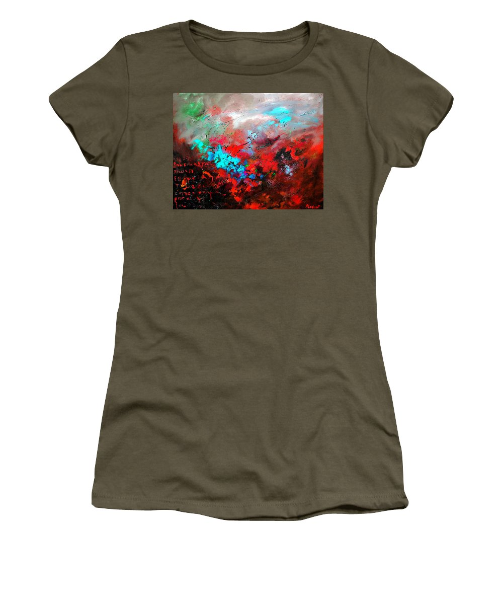 Abstract Women's T-Shirt featuring the painting Abstract 975231 by Pol Ledent