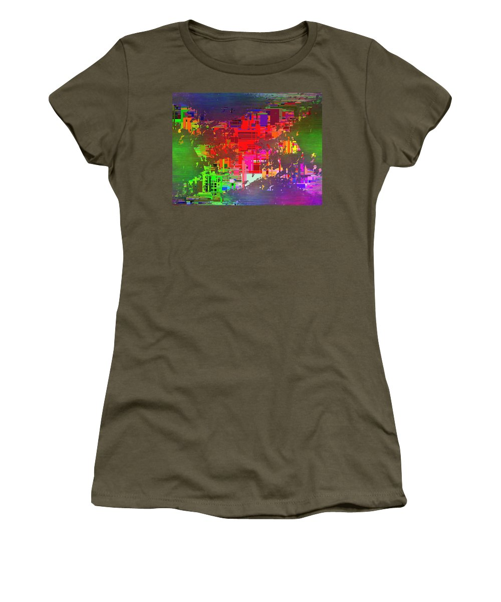 Abstract Women's T-Shirt featuring the digital art Abstract Cubed 2 by Tim Allen