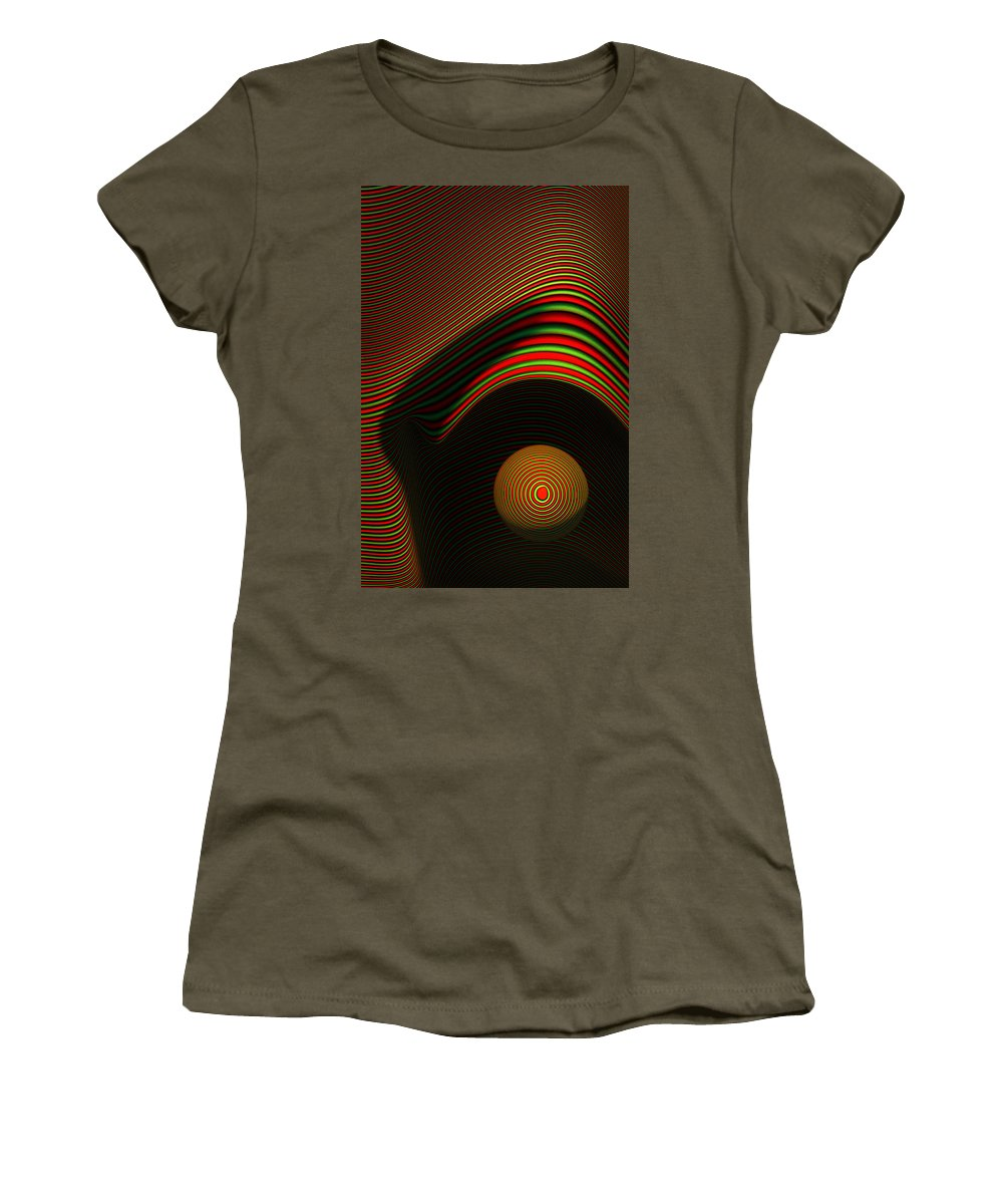 Eye Women's T-Shirt featuring the digital art Abstract Eye by Johan Swanepoel