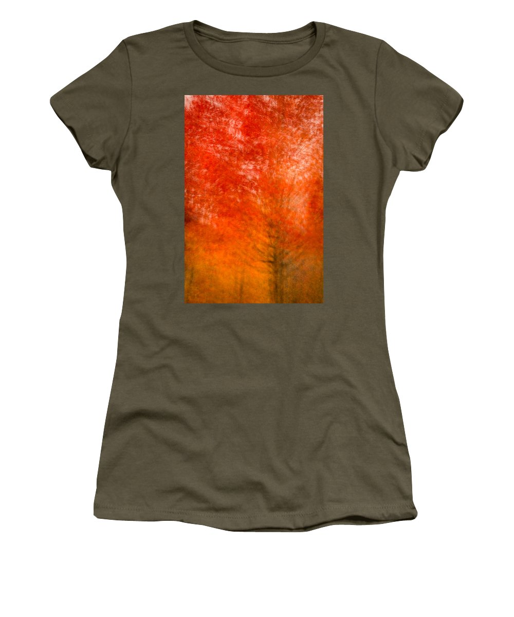 Autumn Women's T-Shirt featuring the photograph Abstract Fall 18 by Joye Ardyn Durham