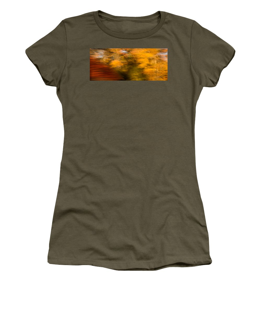 Autumn Women's T-Shirt featuring the photograph Abstract Fall 3 by Joye Ardyn Durham
