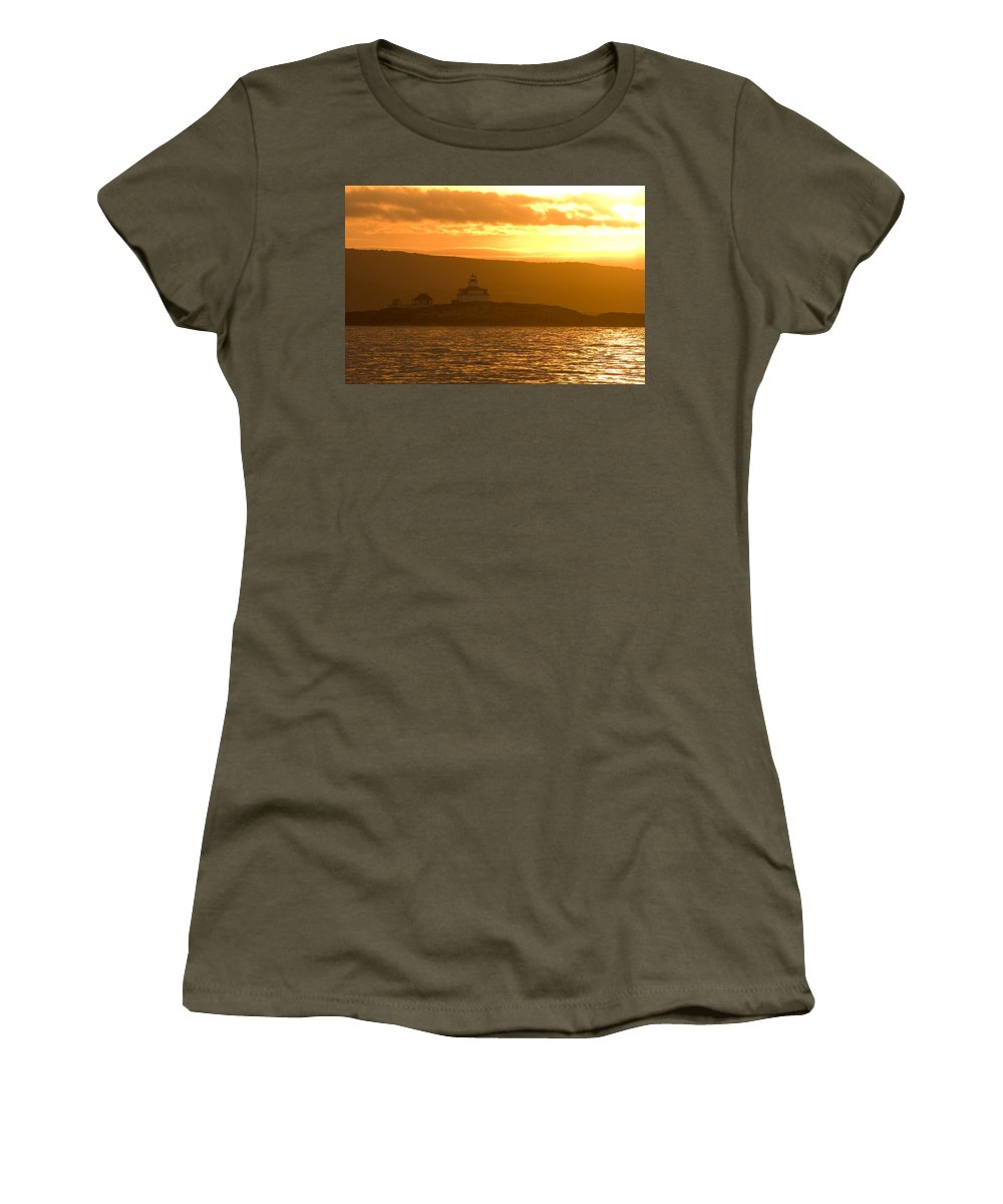 Acadia National Park Women's T-Shirt (Athletic Fit) featuring the photograph Acadia Lighthouse by Sebastian Musial