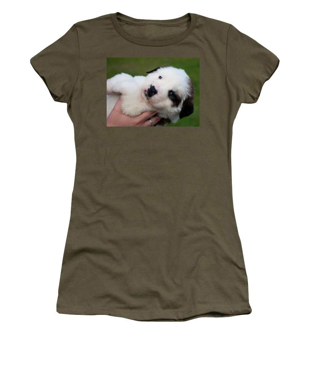 Adorable Hand Full Women's T-Shirt featuring the photograph Adorable Hand Full by Mechala Matthews