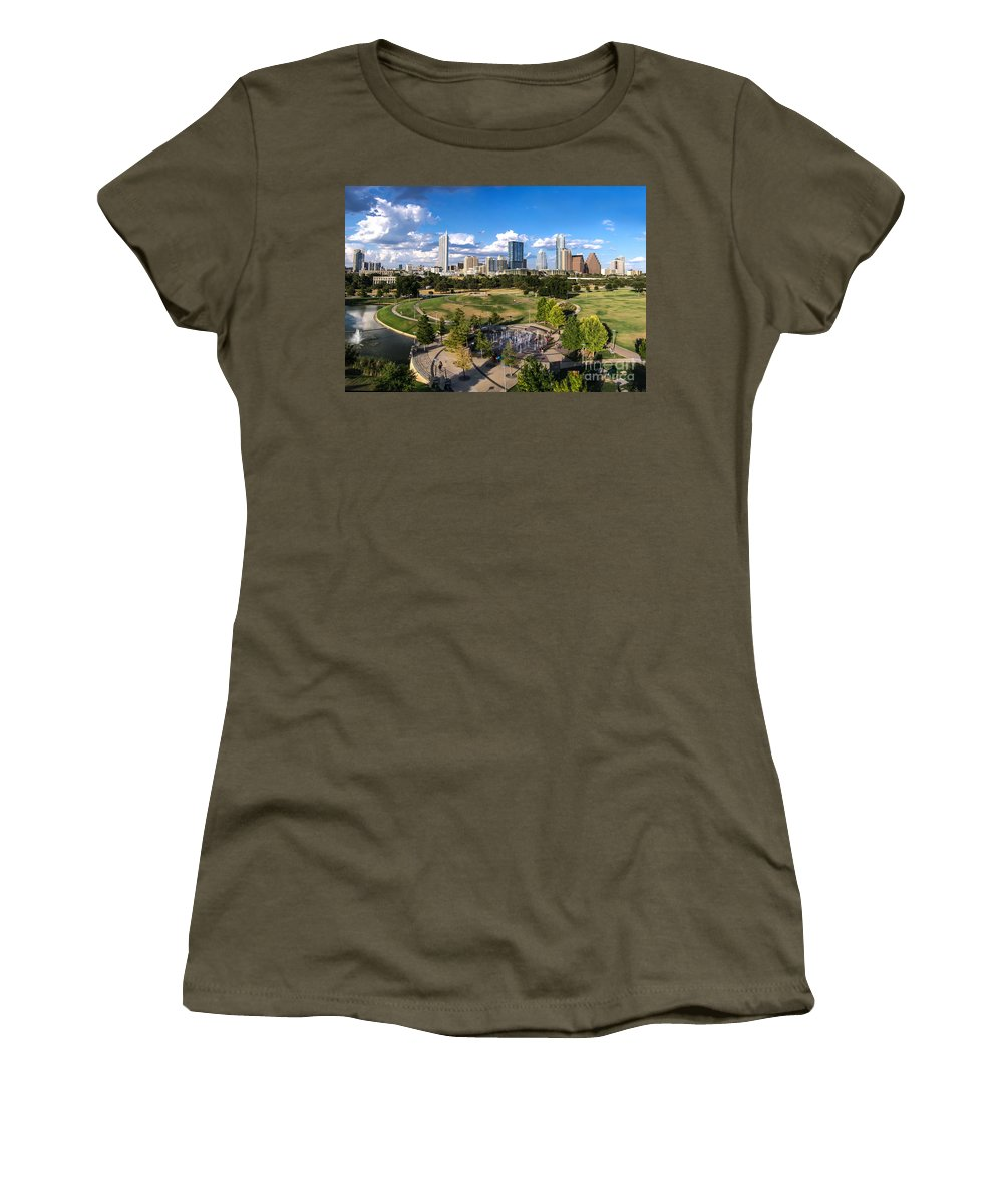 Austin Women's T-Shirt featuring the photograph Afternoon In Austin by Randy Smith
