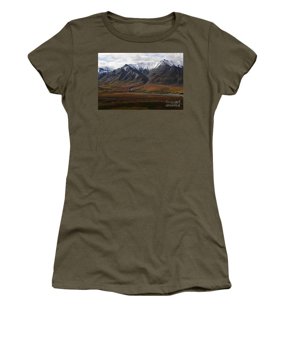 Landscape Women's T-Shirt featuring the photograph Alaska Range by Ron Sanford