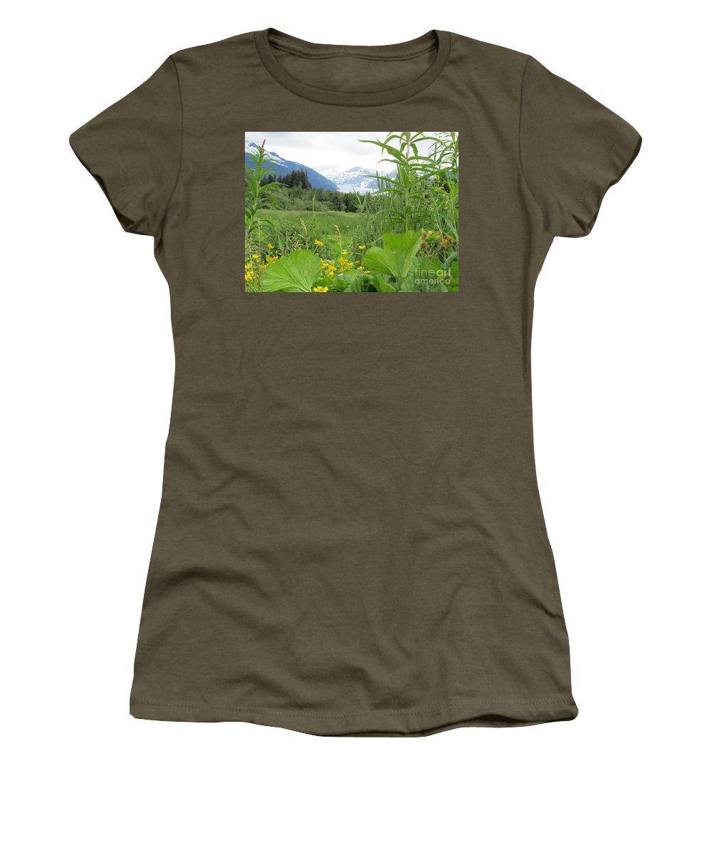 Alaska Women's T-Shirt featuring the photograph Alaskan Glacier Beauty by Donna Jackson