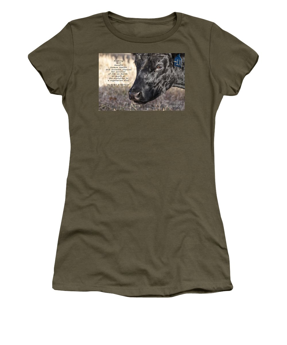 Diet Women's T-Shirt featuring the photograph Albert Einstein Says by Janice Pariza