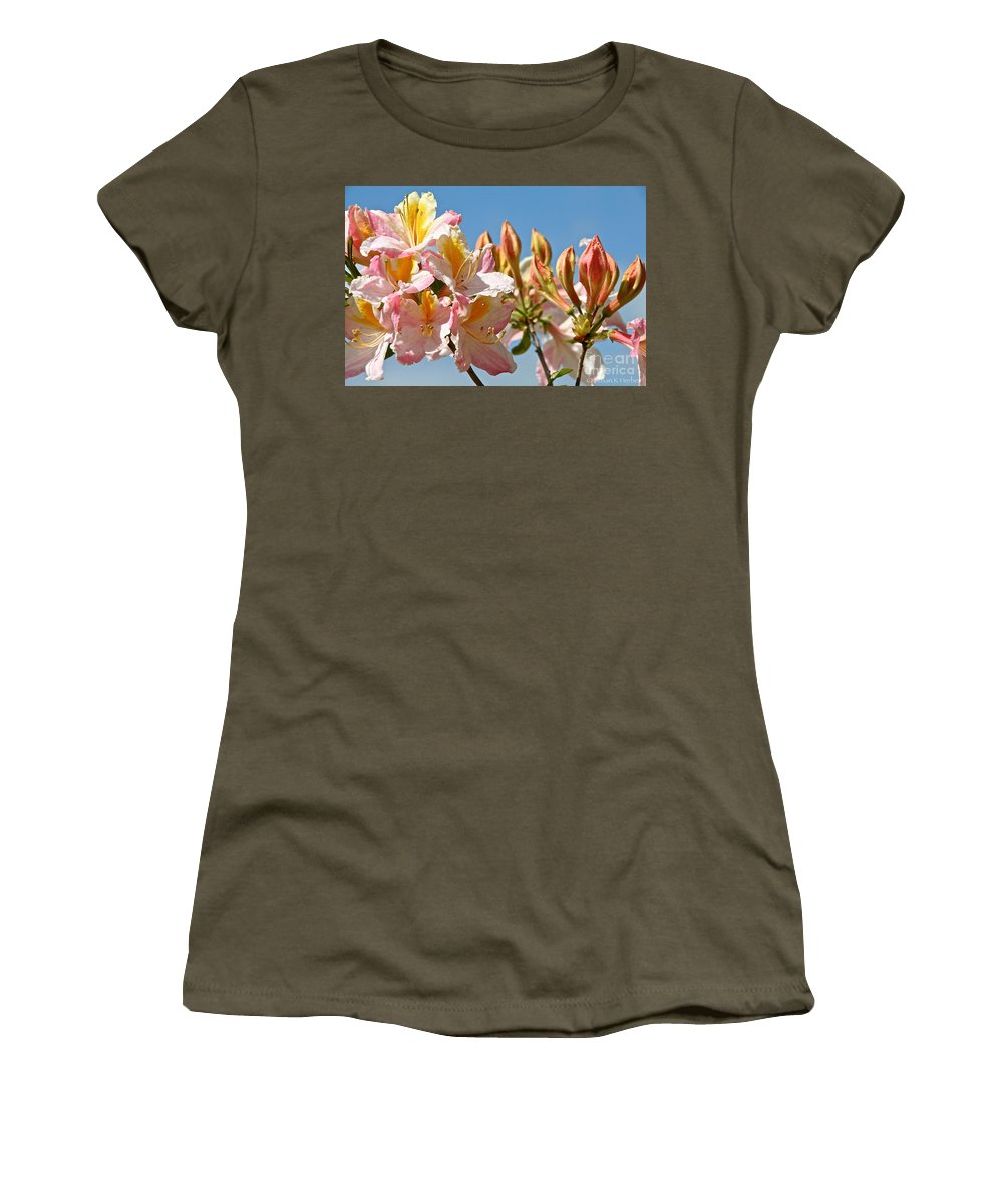 Flower Women's T-Shirt featuring the photograph All Stages Of Bloom by Susan Herber