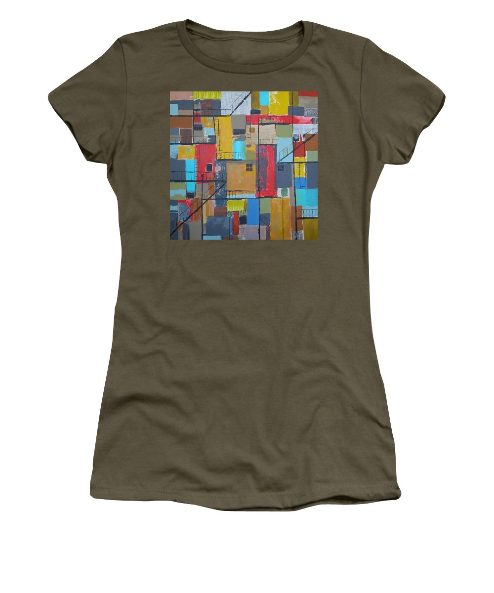 Alley Women's T-Shirt featuring the painting Alley 2 by Rhodes Rumsey
