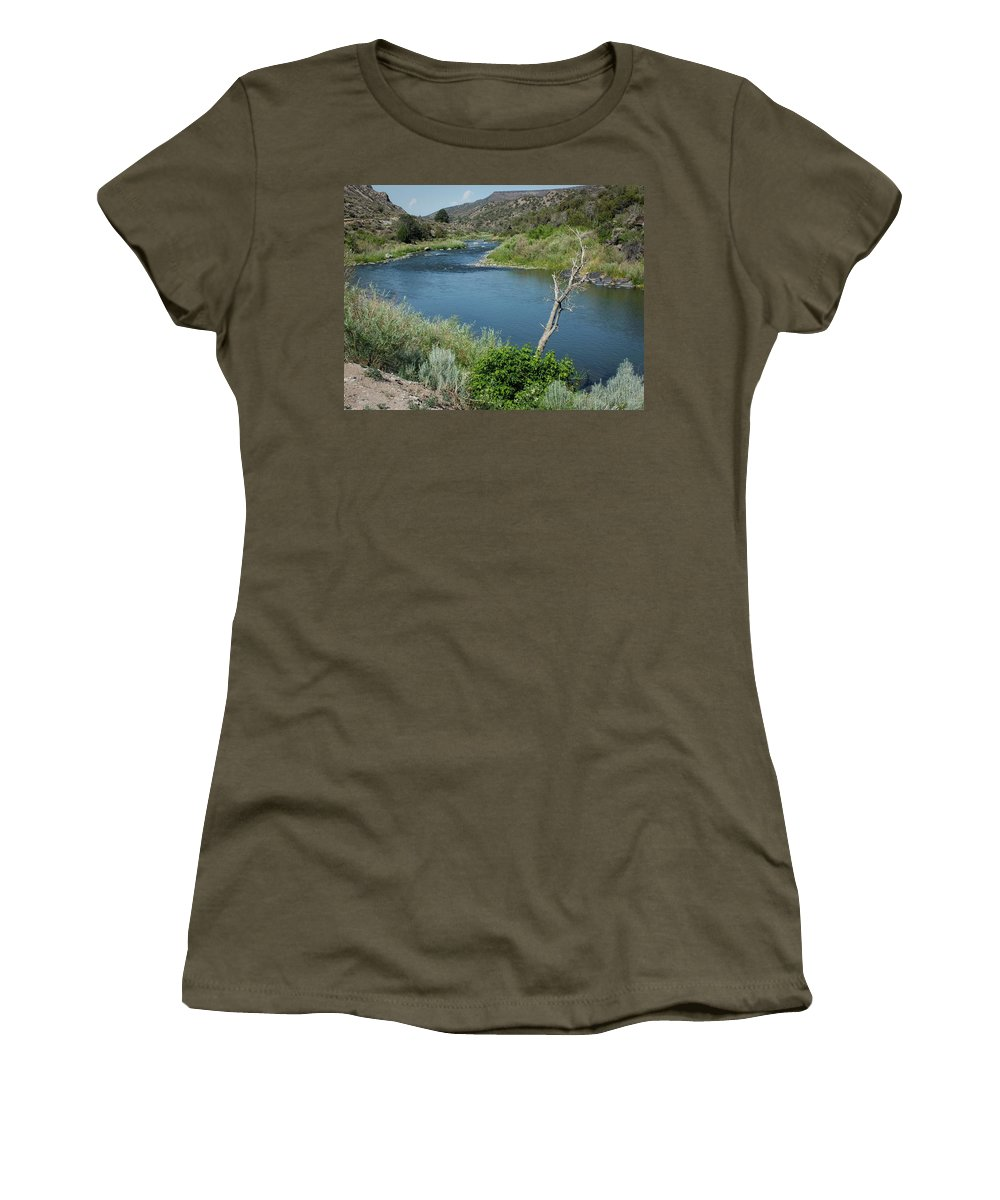 Lucinda Walter Women's T-Shirt featuring the photograph Along The Rio Grande River by Lucinda Walter
