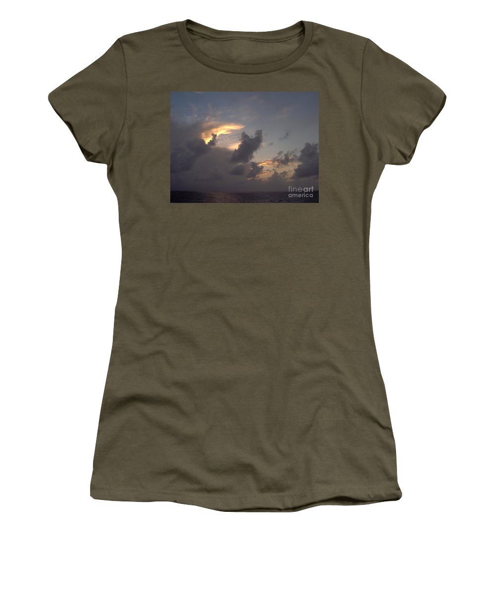 Clouds Women's T-Shirt featuring the photograph Amazing Clouds At Sunset by D Hackett