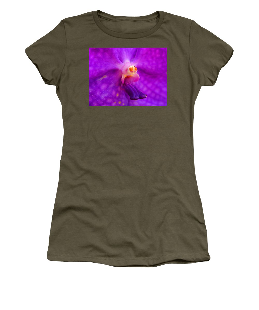 Orchid Women's T-Shirt featuring the photograph An Orchid's Delicates by Kaleidoscopik Photography