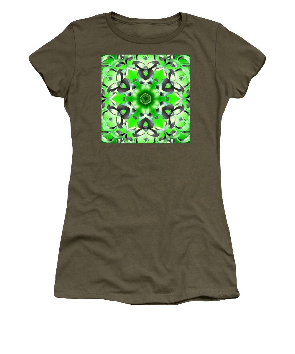 Sacredlife Mandalas Women's T-Shirt featuring the digital art Anahata Conjunction by Derek Gedney