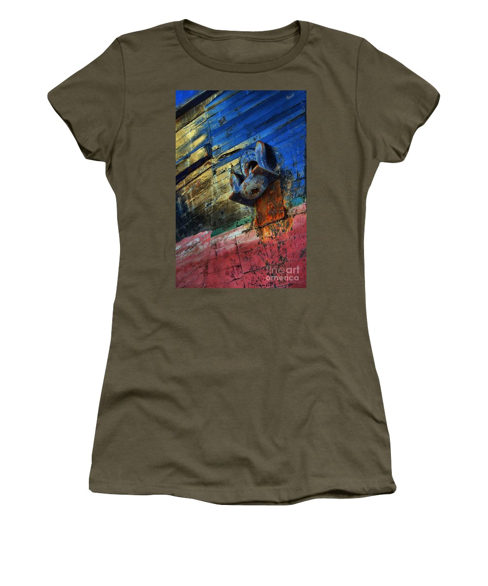 Abstract Women's T-Shirt featuring the photograph Anchored In Change by Lauren Leigh Hunter Fine Art Photography