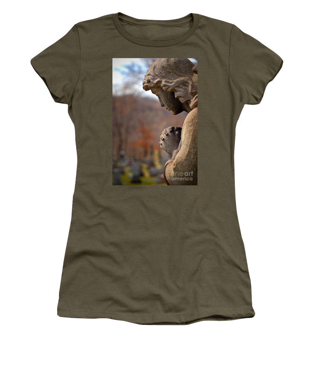 Angel Women's T-Shirt featuring the photograph Angel Watching Over by Amy Cicconi