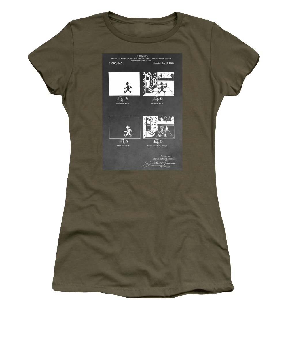 Animation Patent Women's T-Shirt featuring the photograph Animation by Dan Sproul