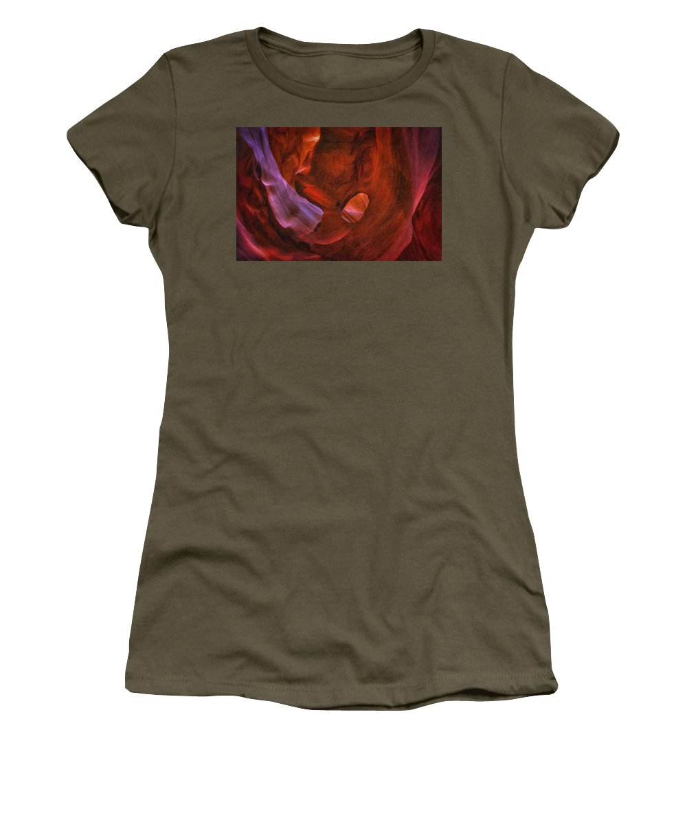 Antelope Women's T-Shirt featuring the photograph Antelope Canyon 22 by Ingrid Smith-Johnsen