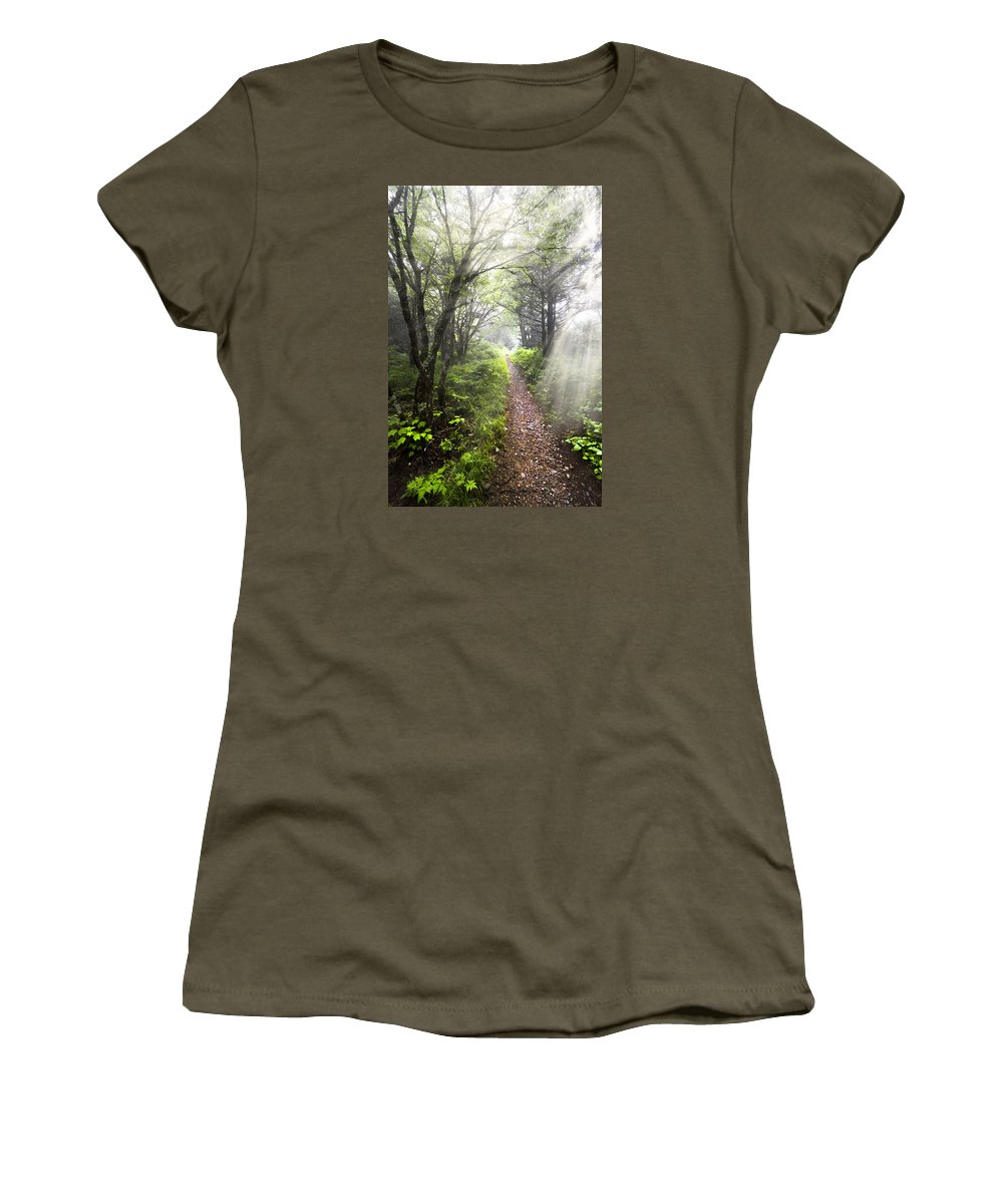 American Women's T-Shirt featuring the photograph Appalachian Trail by Debra and Dave Vanderlaan