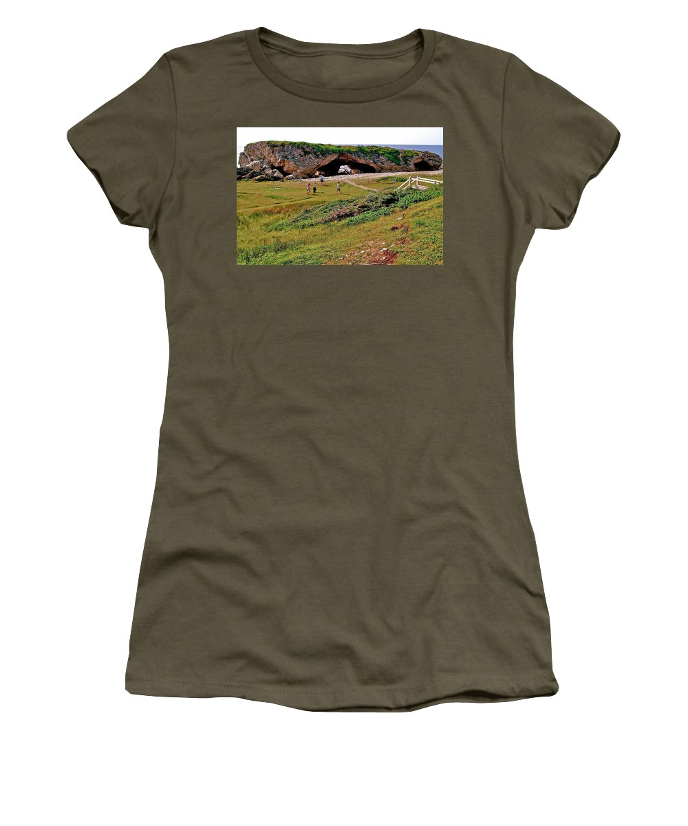 Arches On West Coast Women's T-Shirt featuring the photograph Arches On West Coast-nl by Ruth Hager